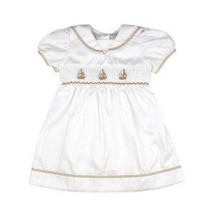 Nautical Sailboats Spring short puff sleeve dress